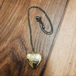 Forever 21 Gold Heart Locket Necklace